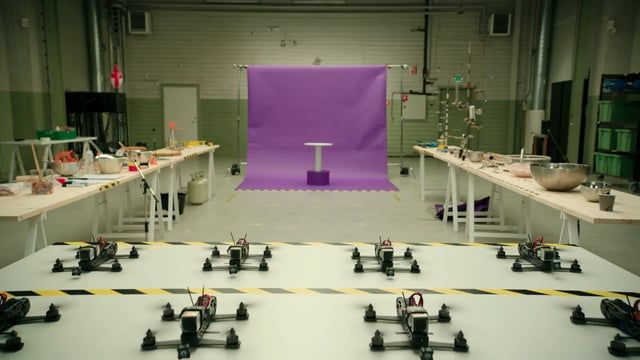 Handy Drones Assemble a Wonderfully Lopsided Cake In an Amusing  Norse Telecom Ad