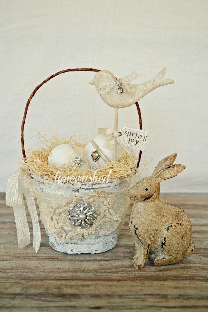 Spring Basket-Bird. $24.00, via Etsy.