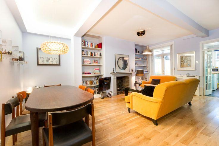 Dining/Reception Room basement flat London SW10 #cutlerandbond #basementflat #gardenflat #londonproperty