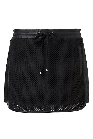 Laser Cut Mini Skirt   Women's Clothing by Witchery Online