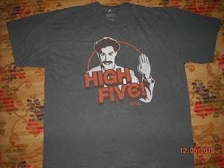 Anak Liar Rocks!: BORAT High Five! Movie T-shirt (SOLD)