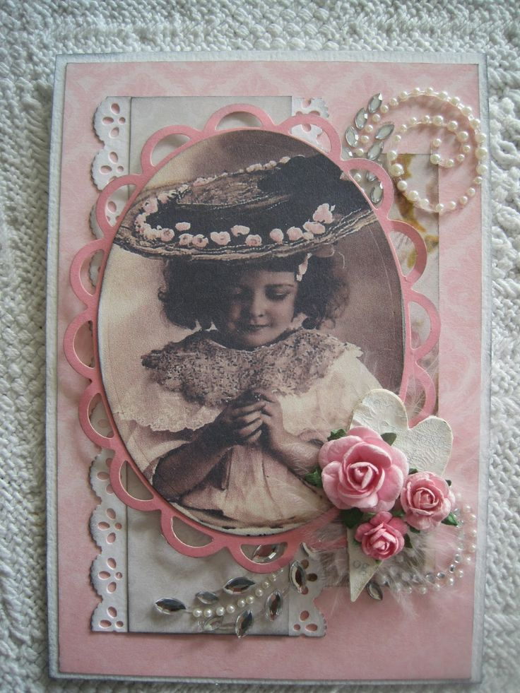 Cathrines kortverden: Rosa vintage-kort