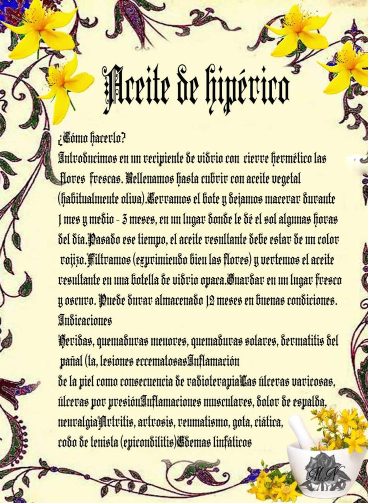 Trastos de Bruja: Aceite de Hiperico o Hierba de San Juan