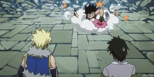 Eventually, Natsu sends Gajeel of in a little cart because he is super strong and can handle the opposition by himself. Description from deviantart.com. I searched for this on bing.com/images