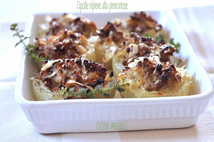 Cipolle ripiene alla piemontese #cucinaparadiso #cipolle #cipolleripiene #piemonte #salsiccia #bontà