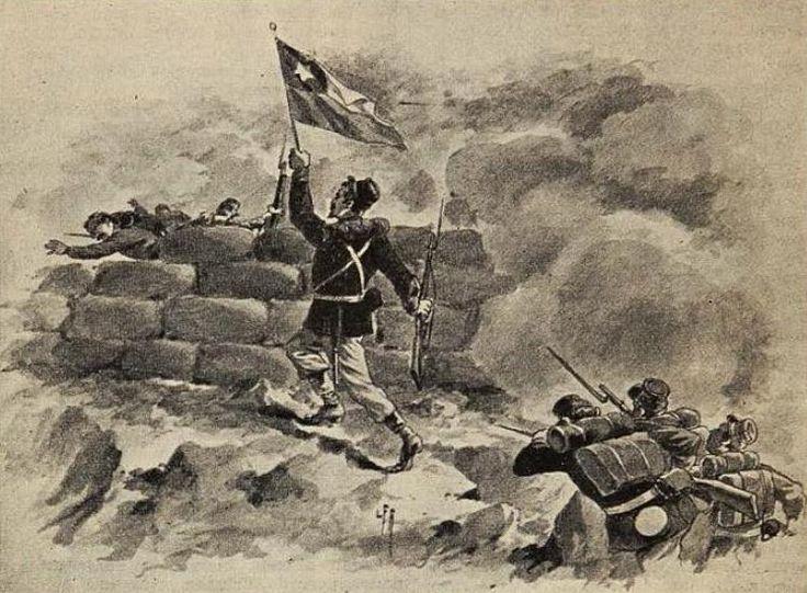 Durante la Batalla de Chorrillos (enero de 1881) el oficial ayudante teniente…