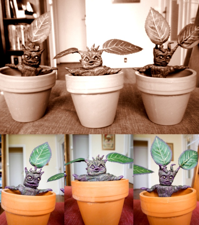 Potter Frenchy Party - Mandrake roots - Harry Potter DIY