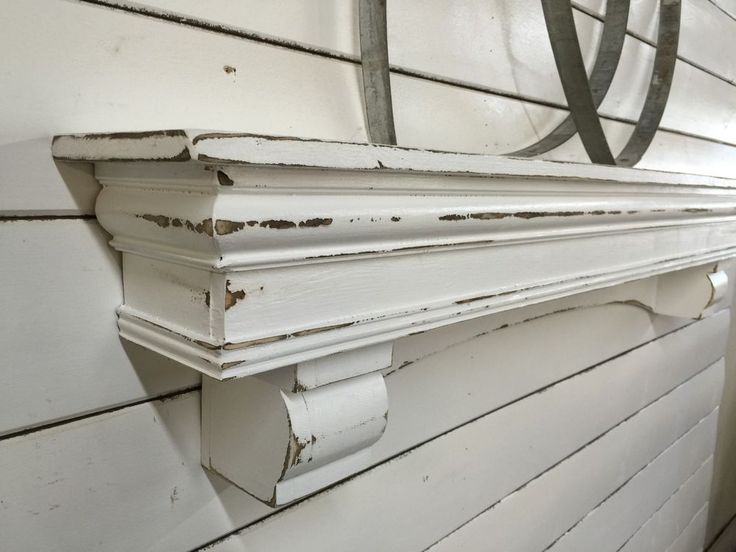 French Country Mantle Shelf, Large Mantle shelf, Arch Mantle with Corbels, 48 in #NaivePrimitive