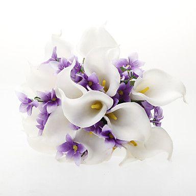 Satin Calla Lily Flower Wedding Bouquet (fler färger)  – SEK Kr. 186