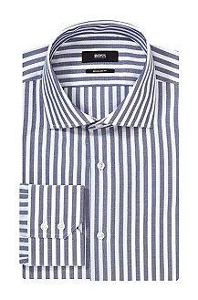 Regular fit business shirt 'Gerald' with shark collar, Dark Blue