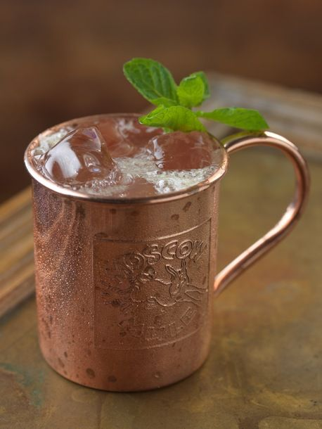Cocktail // Moscow Mule // smirnoff vodka, ginger + fresh lime, copper mug