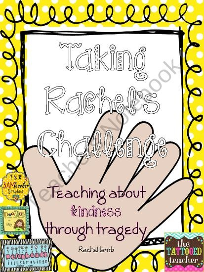 rachels challenge inspirational poster set from the tattooed teacher on TeachersNotebook.com (8 pages)