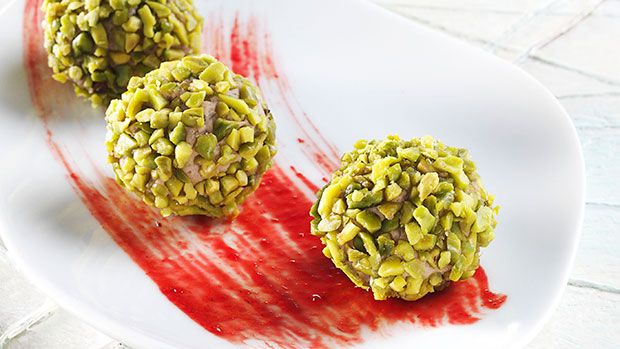 Turkey Pralinas and Cranberry Sauce with American Pistachios By Chef Stefania Corrado | American Pistachio Growers