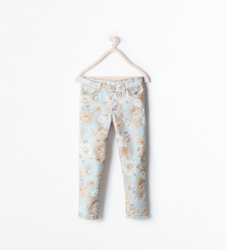 ZARA - KIDS - SLIM FLORAL TROUSERS