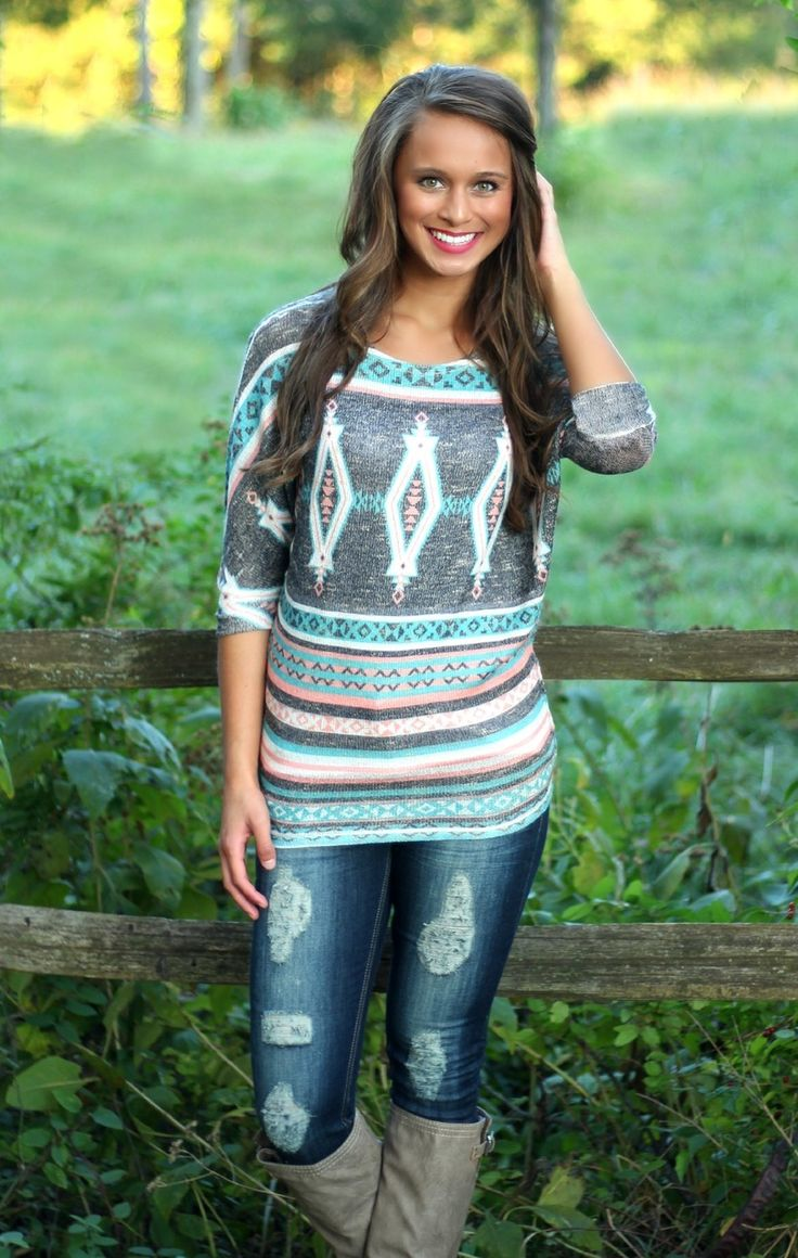 The Pink Lily Boutique - Everyday Aztec Tunic, $35.00 (http://thepinklilyboutique.com/everyday-aztec-tunic/)