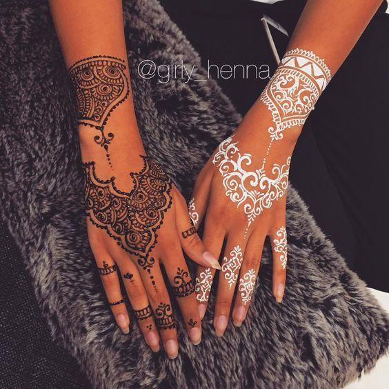 Black x white henna