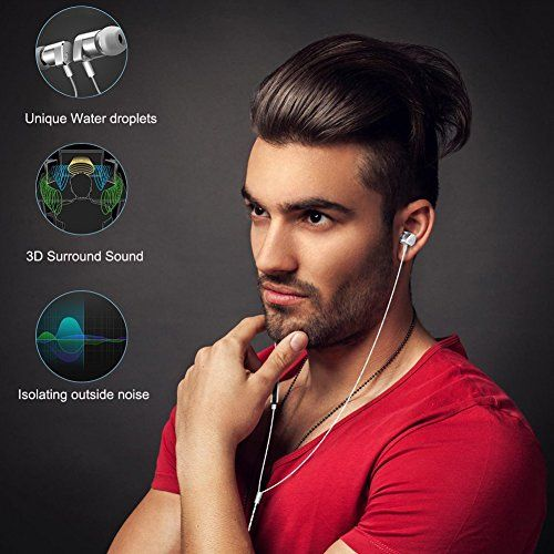 TIMMKOO Dual Drivers Metal Earbuds In Ear Earphones Noise-isolating bass Headphones with Mic (Gray)   Less escape of sound They are very quiet if you take them on a airplane or--no one will hear what you are listening to.because these stay p