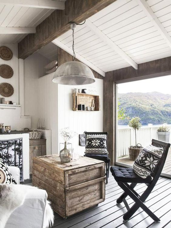 melbripley: Cabin in Norway | via My Scandinavian Home - Inspiration for @atlantishome Cozy 80s Aspen Cabin Blog Post now on www.atlantishome.com