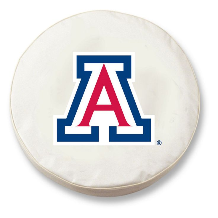 Arizona Wildcats White Tire Cover w/ Security Grommets