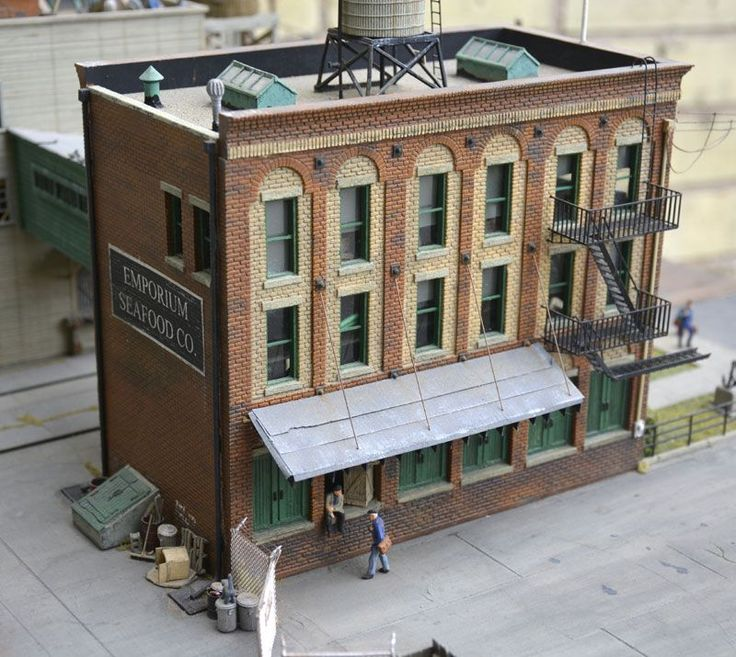 Toy Model Buildings : Best images about model railroad structures on