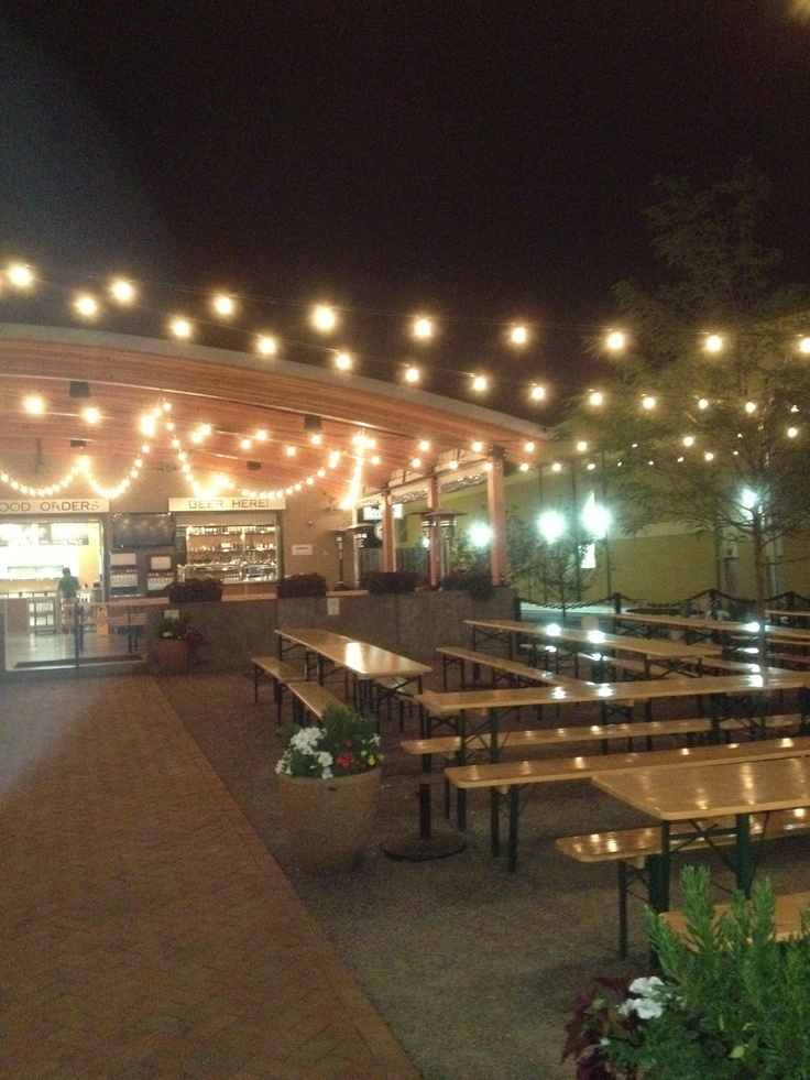 Beer Garden String Lights : The Lowry Beer Garden has the right idea for evening lighting. Definitely use commercial grade ...