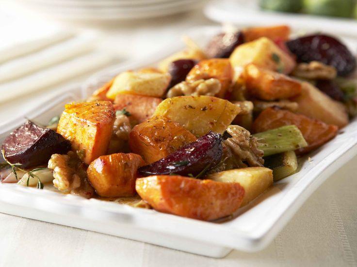 roasted winter vegetables vegetable salad recipes vegetarian recipes ...