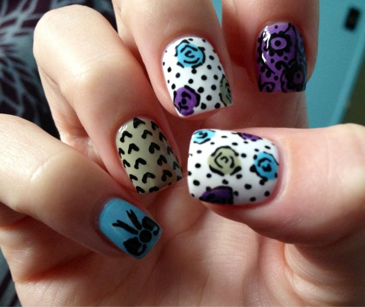 Cool Easily Fun Nail Art Ideas For Short Nail Designs   Easy Nail Art Design    Pinned Nails