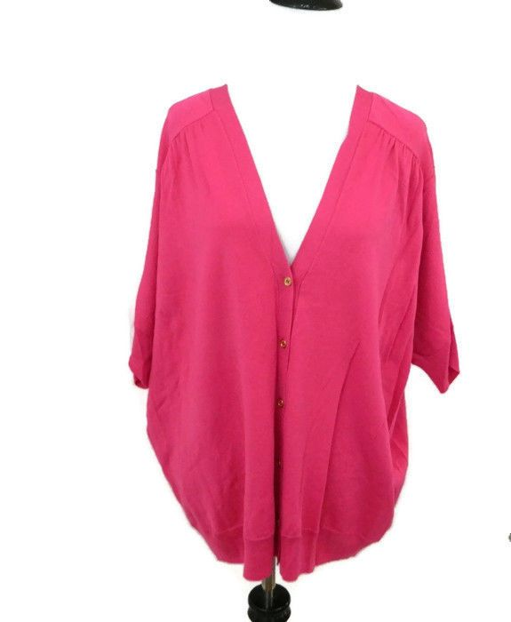 Vince Camuto Cardigan Plus Size 2x Pink Sweater NWT #VinceCamuto #Cardigan