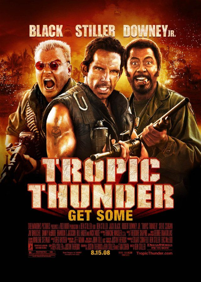 Tropic Thunder: Movie Posters, Thunder 2008, Funny Movie, Ben Stiller, Toms Cruises, Watches Movie, Favorite Movie, Tropical Thunder, Jack Black