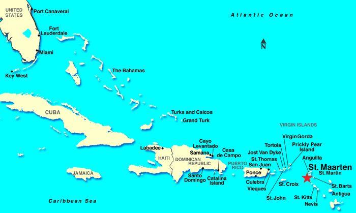 St. Maarten Map