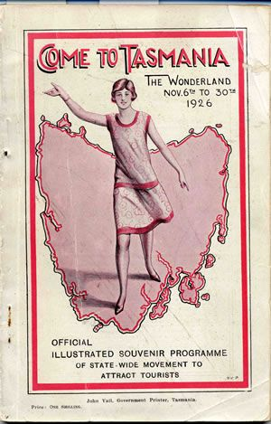 Come to Tasmania (from 1926). #Australia
