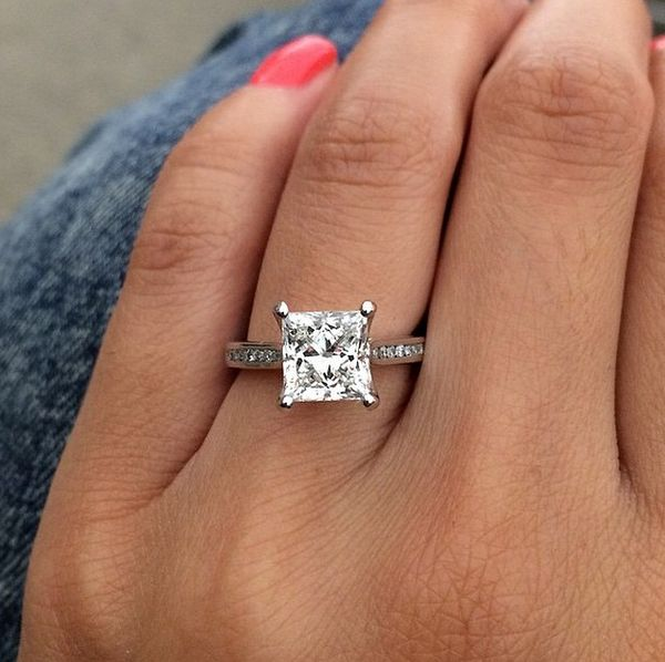 princesscut ritani engagement ring - Ritani Wedding Rings