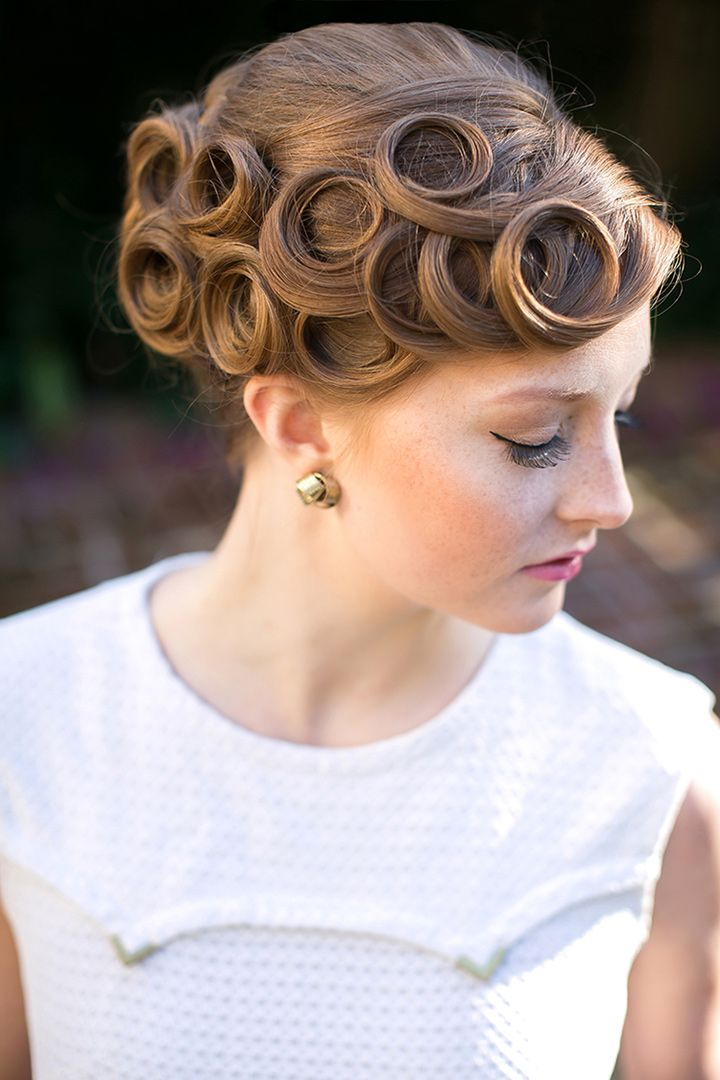 Best 25 Vintage Wedding Hairstyles Ideas On Pinterest: 25+ Best Ideas About Pin Curl Updo On Pinterest
