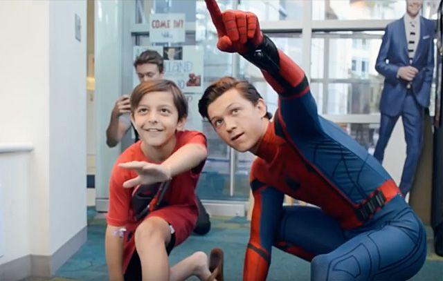 Tom Holland Visits Children's Hospital in Spider-Man Costume