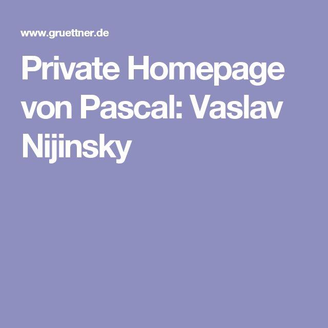 Private Homepage von Pascal: Vaslav Nijinsky