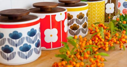 Retro vintage-style Orla Kiely kitchenware
