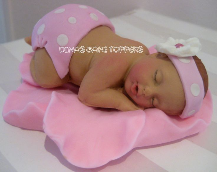 Polka Dot Baby Shower Cake Toppers 1st Birthday LARGER BABY. $35.00, via Etsy.