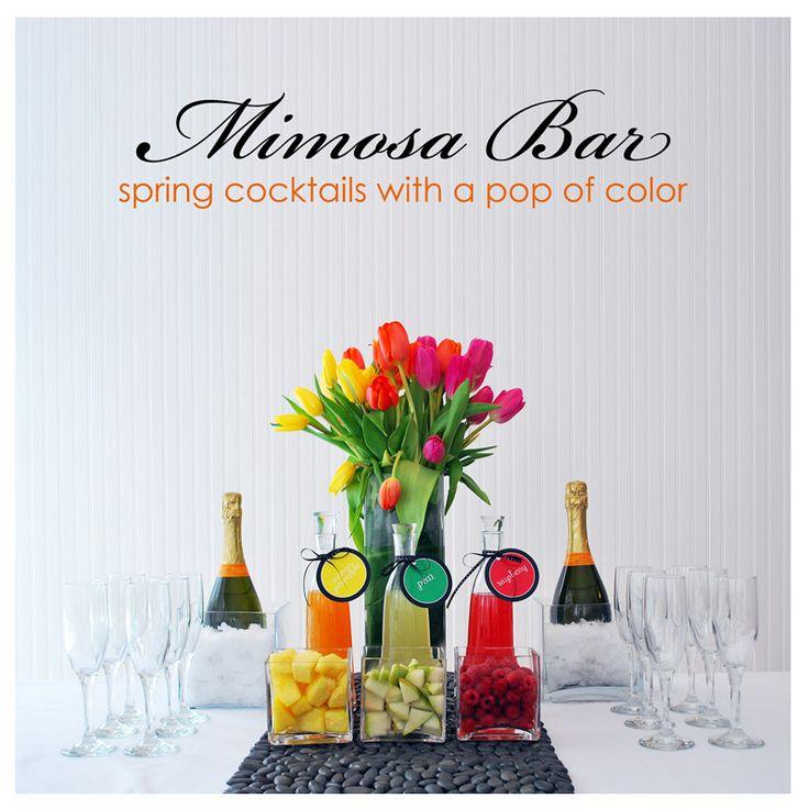 Mimosa bar set up.