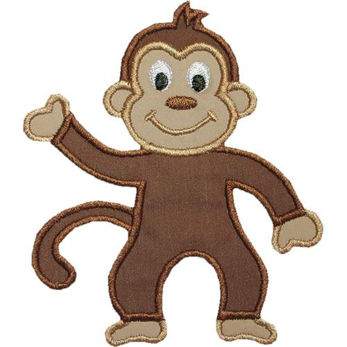 Free+Monkey+Applique+Design | Monkey Applique Design