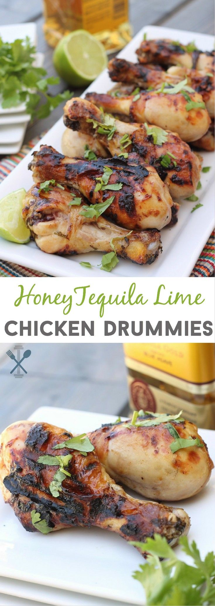 The ultimate football party snack. These honey tequila lime chicken drummies…