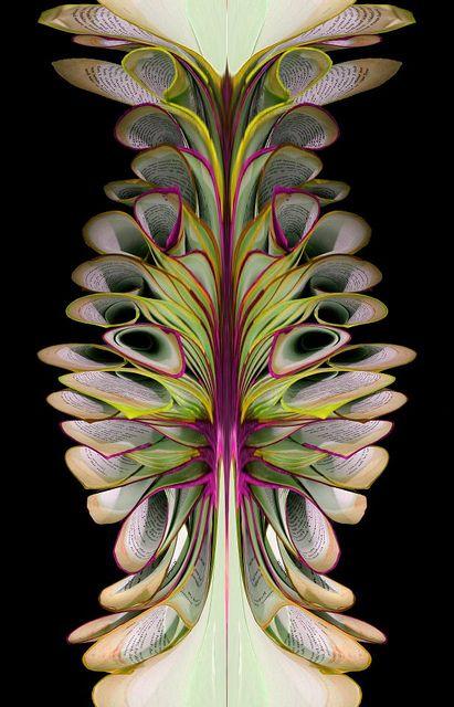 Book Sculpture Symmetrisch / Asymmetrisch.Een symmetrische vorm is een vorm waarvan de 2 helften helemaal (of bijna helemaal ) gelijk zijn  Vormen die dat niet zijn , noem je asymmetrisch, organische vormen zijn  vaak asymmetrisch