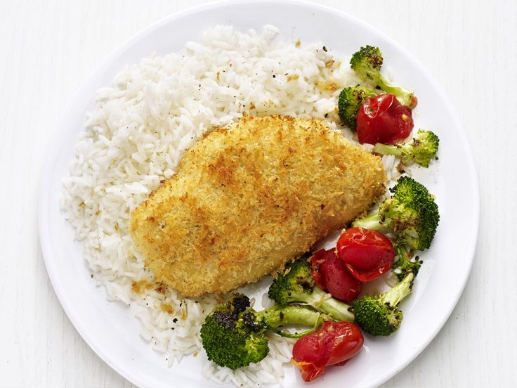 Crispy Chicken with Roasted Broccoli recipe from Food Network Kitchen via Food Network