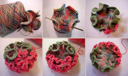 How To Crochet Ruffles - Hyperbolic Crochet