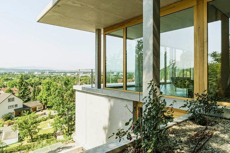 gian salis architekt house on a slope wyhlen germany designboom