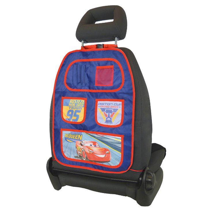Disney Auto Organiser Cars 3  Description: Heb jij ook genoeg van rondslingerend speelgoed in de auto? De Cars 3 organiser is dan de oplossing. Door het handige vakkensysteem is er ruimte voor bijvoorbeeld kleurboeken potloden of je knuffel. Deze auto speeldgoedtas met opdruk van de Cars 3 Lightning McQueen houdt je auto netjes opgeruimd tijdens een lange autorit naar je bestemming. De auto organiser is gemakkelijk vast te maken aan de achterzijde van de autostoel met een hoofdsteun en is…