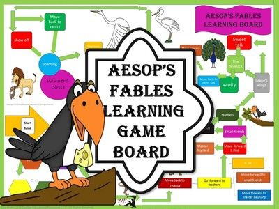 Aesop's+Fables+Learning+Game+Board+from+TiePlay+Educational+Resources+LLC+on+TeachersNotebook.com+-++(8+pages)++-+Price+$1.00+Oh,+the+fable+of+it+all!+Have+a+great+time+learning+about+short+tales+with+Aesop's+Fables+Learning+Game+Board.+Aesop's+Fables+Task+Cards+are+sold+separately.+