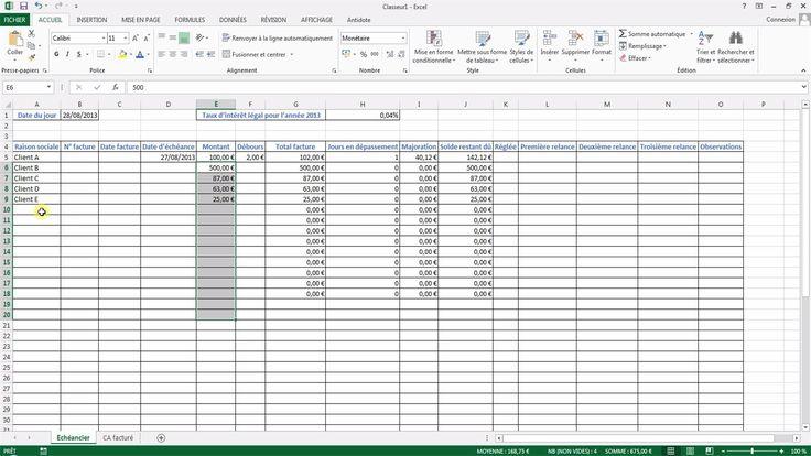 Tutoriel vidéo pour apprendre à créer un échéancier Excel permettant de saisir les informations des factures et de connaître les échéances et les majorations. Comment utiliser la formule Somme.si, la formule Datedif et formule Si sur Excel ? Comment utiliser la fonction Aujourd'hui sur Excel ?  Pour lire ce tutoriel en version texte, rendez-vous sur Votre Assistante : http://www.votreassistante.net/creer-echeancier-excel
