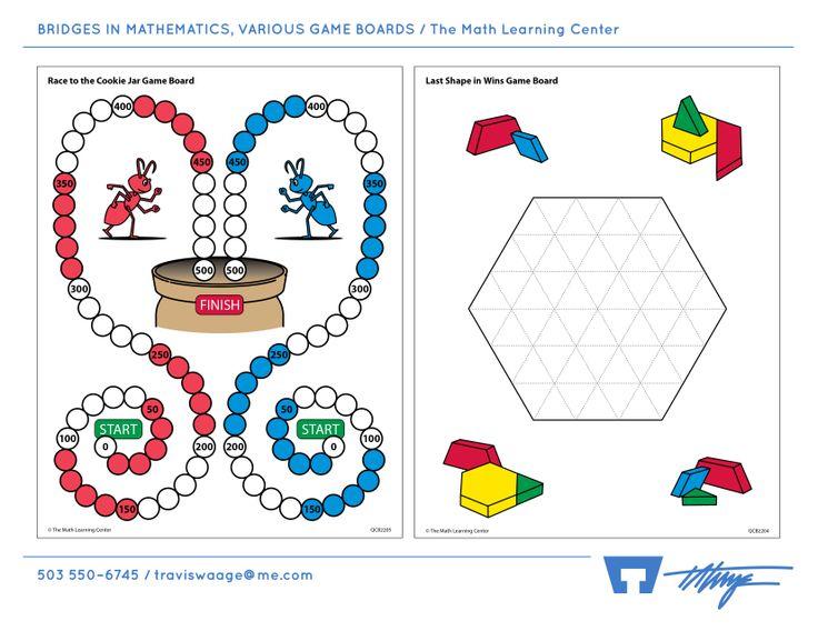 BRIDGES IN MATHEMATICS, VARIOUS GAME BOARDS / The Math ...