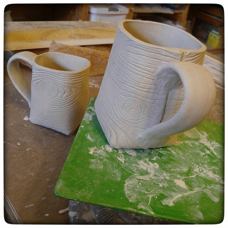 When I planned this out nine or ten months ago today was supposed to be the day I released the August mug.... who is surprised that in ten months life happened and I'm running later than intended? Here's the greenware; I've got all six of them made but just need to make more greenware so I can justify firing the kiln... then I'll glaze them and fire them again. Two weeks from today maybe? Barring any horrific kiln accidents!