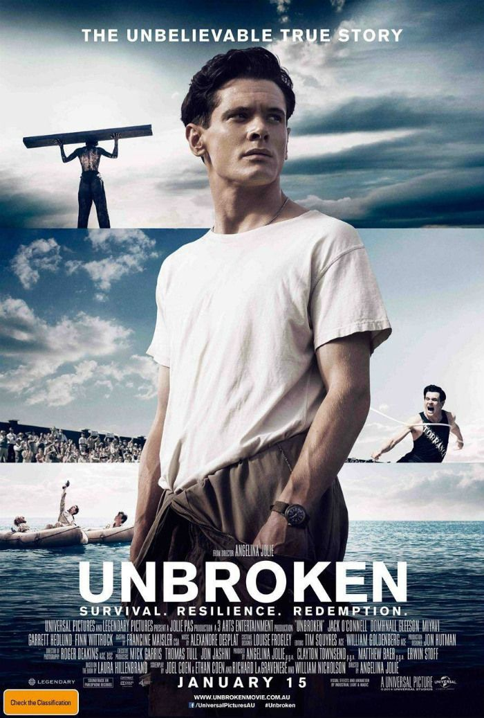 International Poster For Angelina Jolie's 'Unbroken' – Starring Jack O'Connell & Domhnall Gleeson